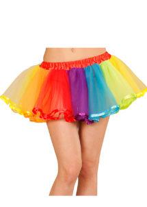 tutu multicolore, tutu fluo, accessoire déguisement années 80, accessoire années 80 déguisement, accessoire fluo, accessoire fluo déguisement, Tutu Jupon Fluo Multicolore, Années 80