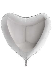 ballon coeur, ballon hélium, ballon aluminium, ballons coeurs argent, Ballon Coeur Argent, en Aluminium