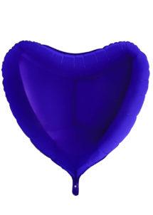 ballon coeur, ballon hélium, ballon aluminium, ballons coeurs BLEUS, Ballon Coeur Bleu Capri, en Aluminium