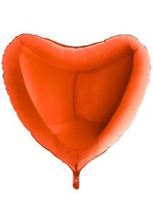 ballon coeur, ballon hélium, ballon aluminium, ballons coeurs oranges, Ballon Coeur Orange, en Aluminium