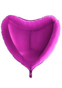 ballon coeur, ballon hélium, ballon aluminium, ballons coeurs violets, Ballon Coeur Violet, en Aluminium