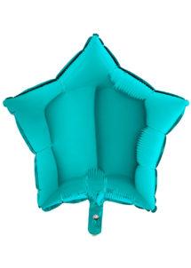 ballon étoile, ballon aluminium, ballons étoiles turquoise, Ballon Etoile Bleu Lagon, en Aluminium