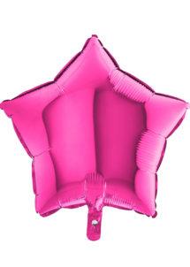 ballon étoile, ballon aluminium, ballons étoiles roses, Ballon Etoile Rose Magenta, en Aluminium