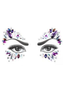 strass visage, paillettes visage festival, strass visage festival, paillettes autocollantes, strass autocollants maquillage, Paillettes Strass Bijoux de Festival, 4