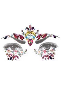 strass visage, paillettes visage festival, strass visage festival, paillettes autocollantes, strass autocollants maquillage, Paillettes Strass Bijoux de Festival, 5