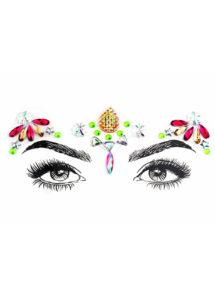 strass visage, paillettes visage festival, strass visage festival, paillettes autocollantes, strass autocollants maquillage, Paillettes Strass Bijoux de Festival, 3
