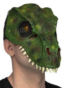 masque dinosaure, masque de dinosaure en latex, masques d'animaux, masque animal latex, Masque de Dinosaure, Demi Visage