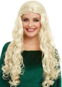 perruque got, perruque game of throne, perruque médiévale, perruque reine des dragons, perruque Daenerys, perruque deneris, Perruque Daenerys, Dragon Queen, Blonde