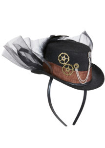 chapeau steampunk, accessoire steampunk, chapeau haut de forme, serre tête steampunk, Chapeau Steampunk, Serre Tête
