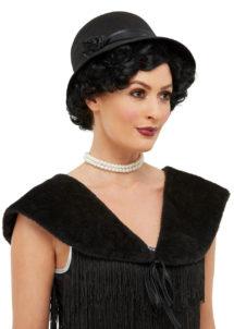 chapeau années 30, étole années 30, chapeau cloche charleston, chapeau cabaret, Chapeau Années 30, avec Etole
