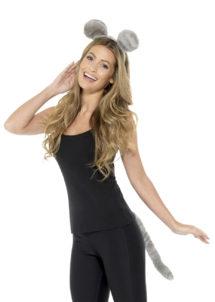 oreilles et queue de souris, kit accessoires déguisement de souris, déguisement animaux, oreilles et queue de souris, accessoires déguisement animaux, Kit de Souris, Oreilles et Queue