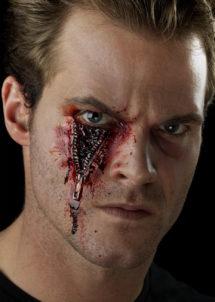 blessures halloween, blessure fermeture eclair, blessures latex, fausses blessures halloween, effets spéciaux halloween, Blessure, Fx, Fermeture Eclair