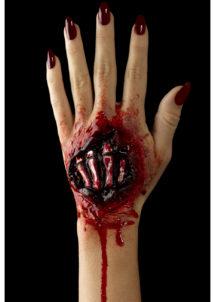 blessures halloween, effets spéciaux halloween, blessure main squelette, fausses blessures, maquillage halloween, Blessure, Fx, Main de Squelette Zombie