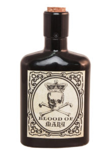 bouteille Bloody Mary halloween, décorations halloween, flacon halloween, flacon décorations horreur, Bouteille Flacon en Verre, Bloody Mary