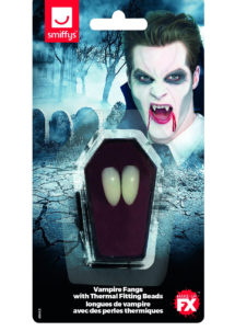 canines de vampire, canines de vampire halloween, fausses dents halloween, fausses canines halloween, dents de vampire halloween, Canines de Vampire, avec Pâte de Fixation