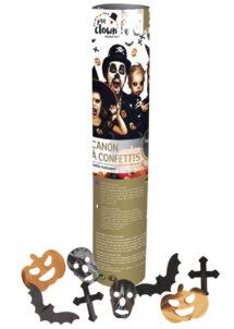CANON-CONFETTIS-HALLOWEEN-28820, Canon à Confettis Halloween, 24 cm, Métal