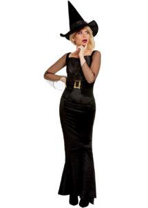 déguisement de sorcière halloween, costume de sorcière, déguisement de sorcière noire, Déguisement Sorcière Glam, avec Chapeau