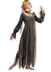 déguisement halloween femme, déguisement mariée noire femme, costume halloween femme, déguisement fantôme femme, Déguisement de Mariée, Fantôme Noir