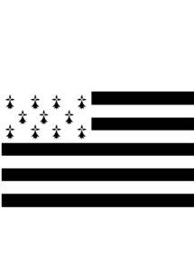 drapeau breton, drapeau de la Bretagne, Drapeau Breton, 90 x 150 cm