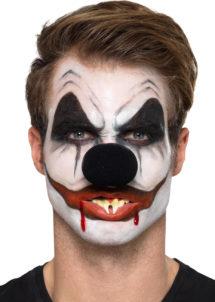 kit maquillage clown halloween, effets spéciaux maquillage halloween, kit de maquillage clown, Kit de Maquillage Clown Sinistre, Noir et Blanc