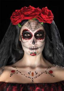 kit maquillage dia de los muertos, kit maquillage jour des morts, kit maquillage day of death, maquillage mort mexicaine, Kit de Maquillage Jour des Morts, Araignée
