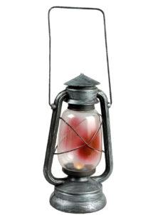 LANTERNE-FAUX-SANG-90-899983, Lanterne Lumineuse à Led, Faux Sang et Métal Vieilli