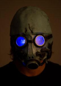 masque à gaz nucléaire, masque halloween, masque effrayant, masque à gaz, Masque à Gaz Nucléaire, Lumineux