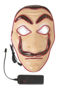masque dali, masque casa de papel, masque lumineux, masque halloween, masque de la casa des papel lumineux, Masque Casa de Papel, Masque Dali, Lumineux