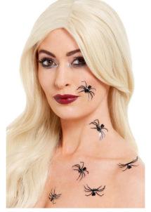 faux tatouages araignées, faux tatouages halloween, tatoos halloween, tattoos halloween, tatouages temporaires, maquillage araignée, Tatouages Temporaires, Araignées 3D