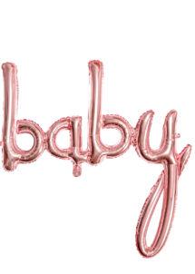 ballon baby shower, ballon baby shower, ballon naissance, Ballon Baby Shower, Lettres Baby Rose Gold