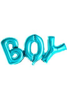 ballon baby shower garçon, ballon hélium, ballon à l'hélium, ballon naissance garçon, décorations baby shower garçon, Ballon Baby Shower, Lettres Boy Bleu