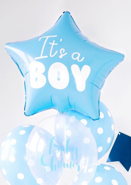 ballon baby shower garçon, ballon hélium, ballon à l'hélium, ballon naissance garçon, décorations baby shower garçon, Ballon Baby Shower, Etoile It's a Boy, en Aluminium