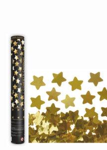 canon à confettis étoiles, canon confettis dorées, canons à confettis, Canon à Confettis, Etoiles Dorées, 40 cm