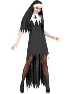 déguisement bonne soeur halloween, déguisement nonne halloween, déguisement femme halloween, costume femme halloween, déguisement halloween femme, Déguisement de Bonne Soeur, Nonne Zombie Sanglante