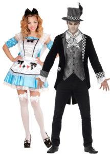 déguisements couples, déguisements duo, déguisement Alice, déguisement chapelier fou, Déguisements Couple, Alice et Chapelier Fou