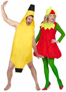 déguisements couples, déguisements duos, déguisements fruits, déguisements banane fraise, Déguisements Couple, Banane et Fraise