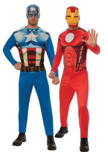 déguisements couples, déguisements duos, déguisements super héros, déguisement Captain America, déguisement Iron man, Déguisements Couple, Captain America et Iron Man