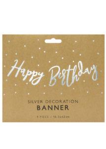 guirlande anniversaire, guirlande happy birthday, décorations anniversaire, Guirlande Anniversaire, Happy Birthday Argent