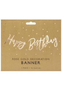 guirlande anniversaire, guirlande happy birthday, décorations anniversaire, Guirlande Anniversaire, Happy Birthday Rose Gold
