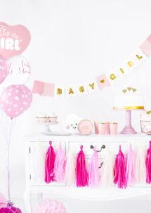 guirlande baby shower fille, guirlande naissance fille, décorations babyshower fille, Guirlande Baby Shower, Baby Girl, Fille