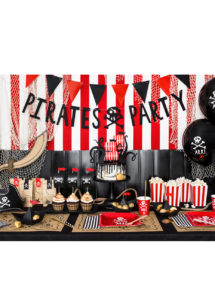 guirlande pirate, guirlande décorations anniversaires, guirlande pirate party, Guirlande de Pirates, Noire avec Tête de Mort