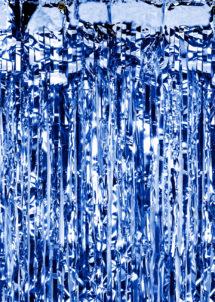 rideaux lamés, rideau de porte, rideau à lamelles brillantes, Rideau de Porte, Lamelles Bleu Foncé