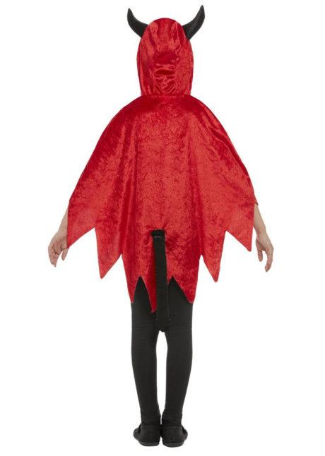 cape de diable pour enfants, capes halloween, déguisement diable enfant halloween, Cape de Diable avec Cornes, Fille et Garçon