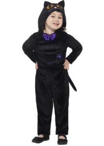déguisement chat noir pour enfant, déguisement de chat halloween, déguisement combinaison de chat, Déguisement de Chat Noir Halloween Baby, Fille