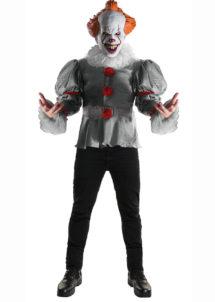 déguisement clown ça, déguisement clown pennywise, déguisement clown halloween, Déguisement Clown Pennywise Luxe, avec Masque
