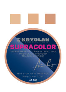 supracolor kryolan, fond de teint maquillage halloween, maquillage halloween, Crème Supracolor, Teint Couvrant, Kryolan