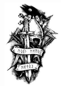 tatouages temporaires, faux tatouages, tatouage déguisement, faux tattoo, Tatouages Temporaires, Chevalier Immortel