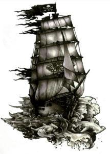 tatouages temporaires, faux tatouages, tatouages autocollants, Tatouages Temporaires, Bateau de Pirate