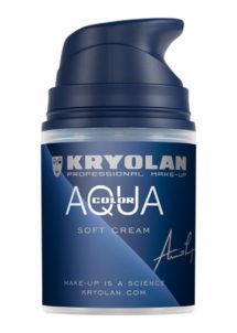 creme de maquillage, peinture corps et visage, peinture maquillage blanc, Aquacolor Crème Blanche, 50 ml, Kryolan
