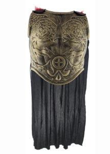 armure romaine, accessoire déguisement romain, armure de gladiateur, Armure Romaine de Gladiateur, Or Vieilli, avec Cape